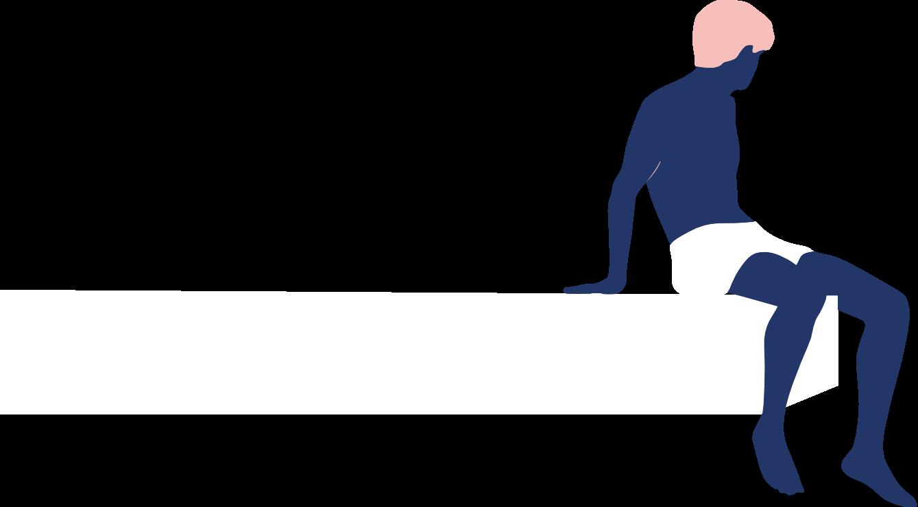Myspa illu mann blauweiss